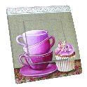 Interrupteur Double Cupcake 1640