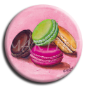 Aimant rond 4 - Macaron