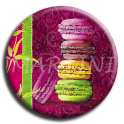 Aimant rond 6 - Macaron
