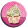 Aimant rond 24 - Cupcake