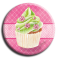 Aimant Cupcake - rond 21