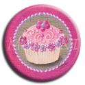 Aimant Cupcake - rond 25
