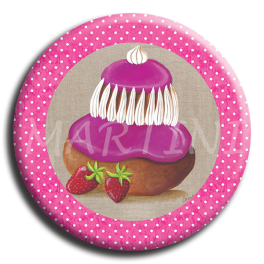 Badge rond 16 - Religieuse