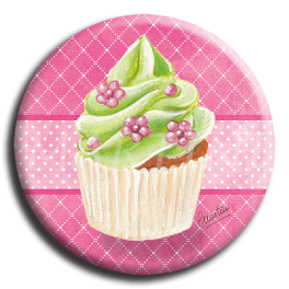 Badge rond 21 - Cupcake