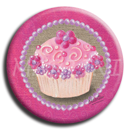 Badge rond 25 - Cupcake