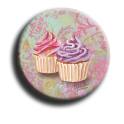 Aimant rond 61 - Cupcake