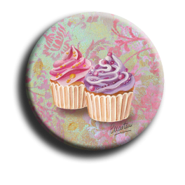 Badge rond 61 - Cupcake