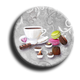 Badge rond 65 - Gourmandises