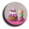 Badge rond 67 - Gourmandises