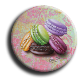 Badge rond 60 - Macarons