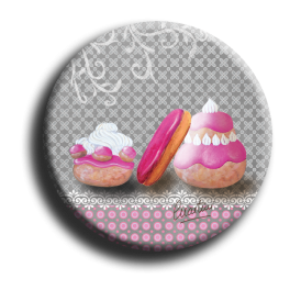 Badge rond 66 - Gourmandises